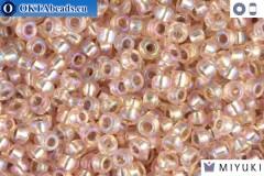 MIYUKI Beads Silver Line Light Blush AB (1023) 11/0