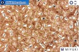 MIYUKI Beads Silver Line Pale Rose (23) 11/0