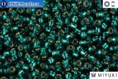 MIYUKI Beads Silver Line Transparent Dark Teal (30) 11/0