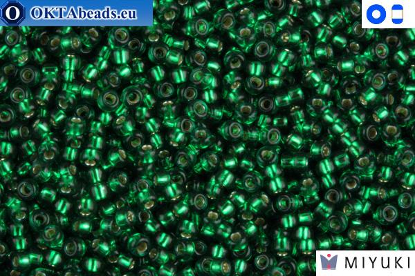 MIYUKI Beads Silver-Lined Emerald 15/0 (1422)