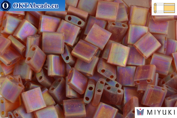 MIYUKI Beads TILA Matte Transparent Dark Topaz AB (134FR)