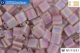 MIYUKI Beads TILA Matte Transparent Smoke Amethyst AB (142FR) TiM142FR