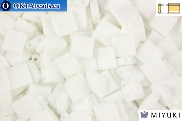 MIYUKI Beads TILA Matte White AB (402FR)