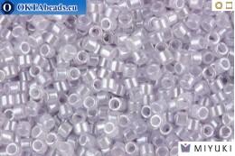 MIYUKI Delica Lined Crystal/Pale Lavender (DB241) 11/0