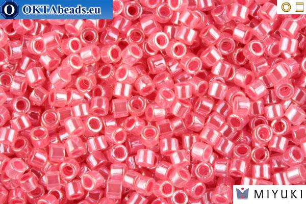 MIYUKI Delica Lined Crystal/Rose Luster (DB236) 11/0 DB236