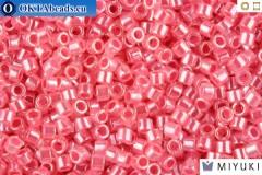 MIYUKI Delica Lined Crystal/Rose Luster (DB236) 11/0