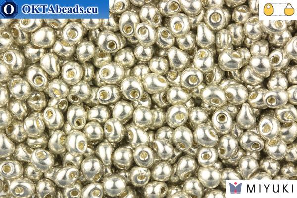 MIYUKI Drop Beads Galvanized Silver (181)