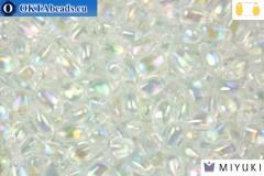 MIYUKI Long Drop Beads Crystal AB (250)