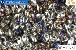 MIYUKI Long Magatama Beads Crystal Heliotrope (4554) LMM4554