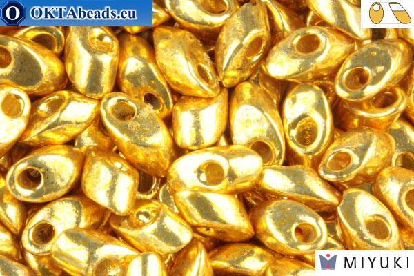 MIYUKI Long Magatama Beads Duracoat Galvanized Gold (4202)