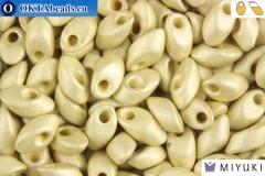 MIYUKI Long Magatama Beads Duracoat Galvanized Silver Matte (4201F)
