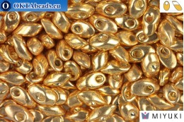 MIYUKI Long Magatama Beads Galvanized Gold (1052)