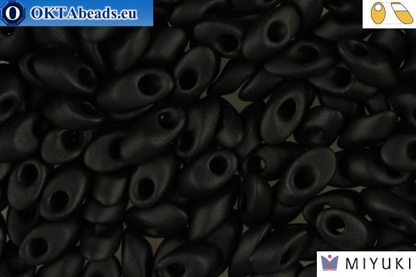 MIYUKI Long Magatama Beads Matte Black (401F) LMM401F