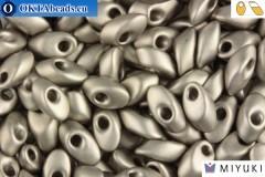 MIYUKI Long Magatama Beads Matte Steel (190F)