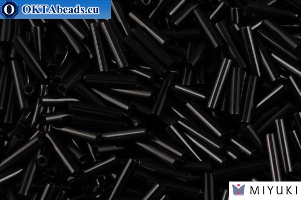 Miyuki Slender Тонкий Стеклярус Black (401) 1,3x6мм,5гр MSB6-0401