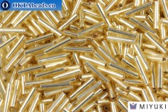 Miyuki Slender Bugle Silver Line Gold (3) 1,3x6mm,5gr