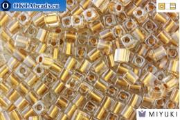 MIYUKI Square Beads Gold Lined Crystal (234) CBM234