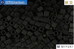 MIYUKI Square Beads Matte Black (401F) CBM401F