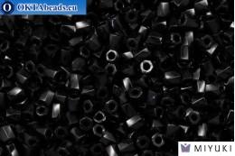 MIYUKI Twist Hex Cut Beads Black Opaque (401) 10/0, 10гр 10TW401