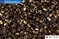 MIYUKI Twist Hex Cut Beads Bronze Metallic (457) 10/0, 10гр