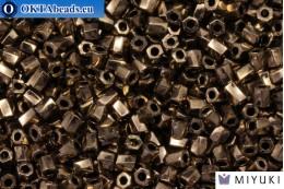 MIYUKI Twist Hex Cut Beads Bronze Metallic (457) 10/0, 10гр 10TW457