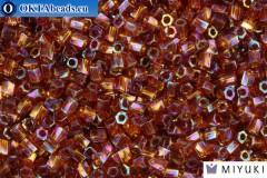 MIYUKI Twist Hex Cut Beads Golden Brown Transparent Rainbow 10/0 (257) 10TW257
