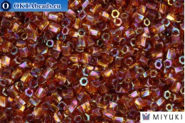 MIYUKI Twist Hex Cut Beads Golden Brown Transparent Rainbow 10/0 (257) 10TW257