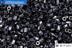 MIYUKI Twist Hex Cut Beads Hematite Metallic (451) 10/0, 10гр