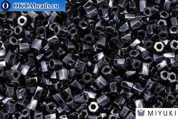 MIYUKI Twist Hex Cut Beads Hematite Metallic (451) 10/0, 10гр 10TW451