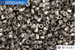 MIYUKI Twist Hex Cut Beads Nickel Plated (190) 10/0, 10гр 10TW190