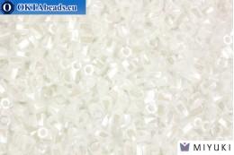 MIYUKI Twist Hex Cut Beads White Pearl 10/0 (420) 10TW420