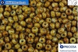 Прециоза чешский бисер 1 сорт бирюза травертин (39000) 10/0, 50гр R10PR39000