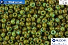 Прециоза чешский бисер 1 сорт бирюза травертин (69930) 10/0, 50гр R10PR69930