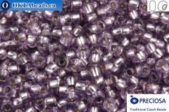 Прециоза чешский бисер 1 сорт фиолетовый с прокрасом серебром соль-гель (78122) 10/0, 50гр