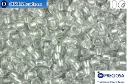 Preciosa český rokajl 1 jakost čirý barevné linie hliník (68108) 10/0, 50g R10PR68108
