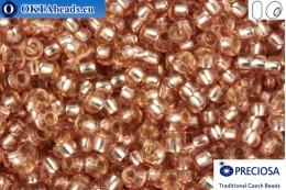 Прециоза чешский бисер 1 сорт розовый с прокрасом серебром синий (78112) 10/0, 50гр R10PR78112