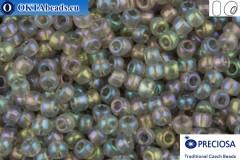 Preciosa czech seed beads 1 quality grey AB (41141) 10/0, 50g