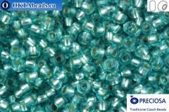 Прециоза чешский бисер 1 сорт синий с прокрасом серебром соль-гель (78133) 10/0, 50гр