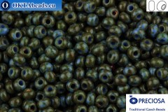 Preciosa czech seed beads 1 quality blue travertin (39940) 10/0, 50g R10PR39940