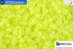 Прециоза чешский бисер 1 сорт желтый матовый флуоресцентный прокрас (08786m) 10/0, 50гр R10PR08786m