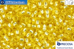 Preciosa czech seed beads 1 quality yellow silver line solgel (78181) 10/0, 50g