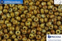 Прециоза чешский бисер 1 сорт бирюза травертин (39000) 10/0, 50гр
