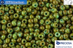 Прециоза чешский бисер 1 сорт бирюза травертин (69930) 10/0, 50гр
