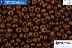 Прециоза чешский бисер 1 сорт коричневый травертин (99110) 10/0, 50гр