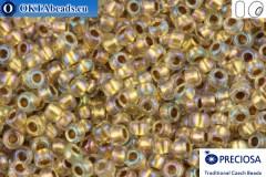Прециоза чешский бисер 1 сорт кристалл с прокрасом бронза радужный (68506) 10/0, 50гр