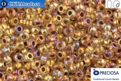 Preciosa czech seed beads 1 quality crystal color line copper AB (68505) 10/0, 50g