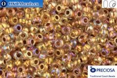Прециоза чешский бисер 1 сорт кристалл с прокрасом медь радужный (68505) 10/0, 50гр