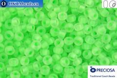 Preciosa czech seed beads 1 quality chartreuse matte fluorescent lined (08756m) 10/0, 50g