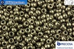 Прециоза чешский бисер 1 сорт серый металлик Терра (18549) 10/0, 50гр