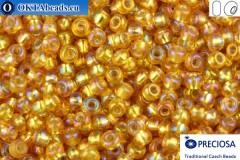 Preciosa czech seed beads 1 quality topaz silver line AB (17059) 10/0, 50g